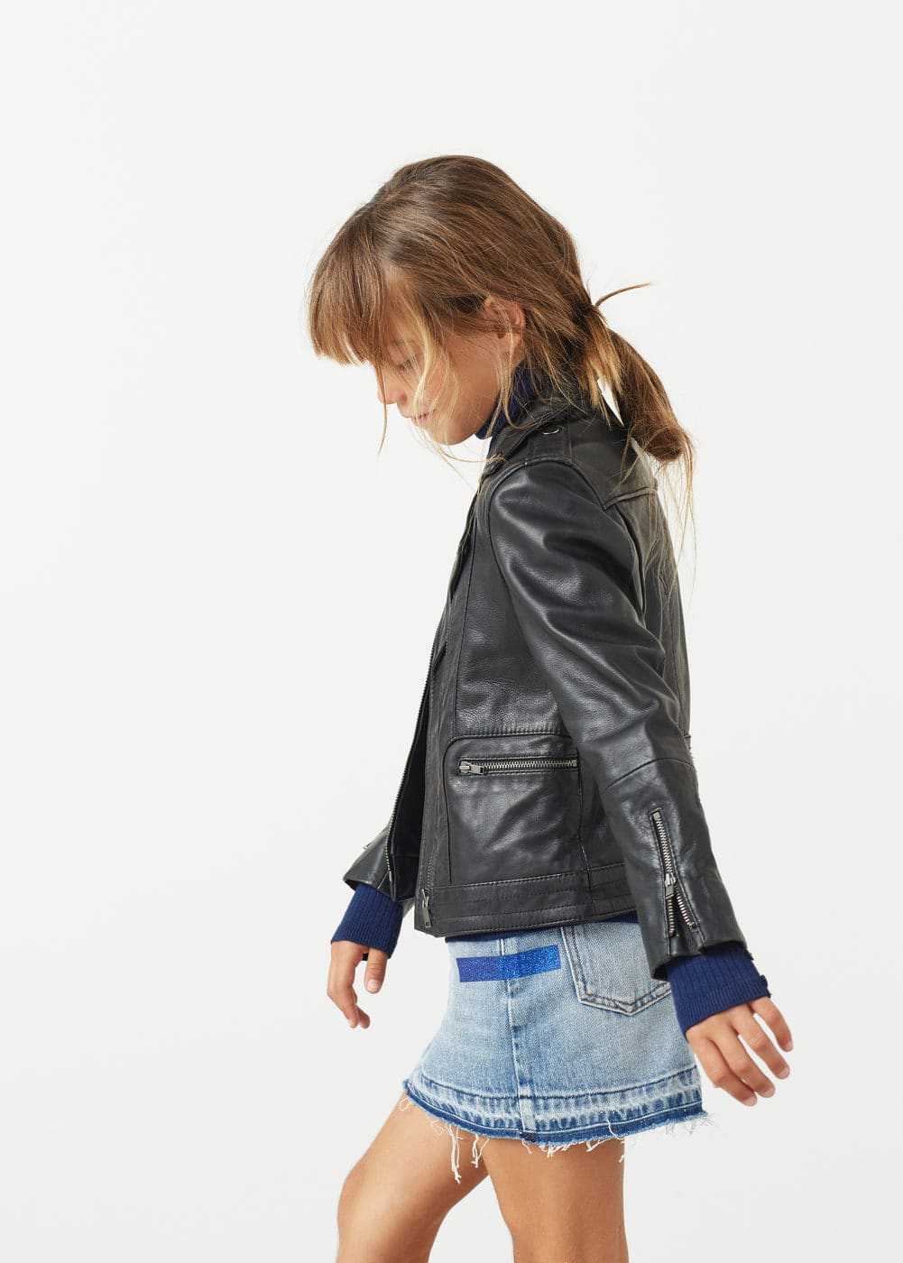 Glitter denim skirt | MANGO KIDS