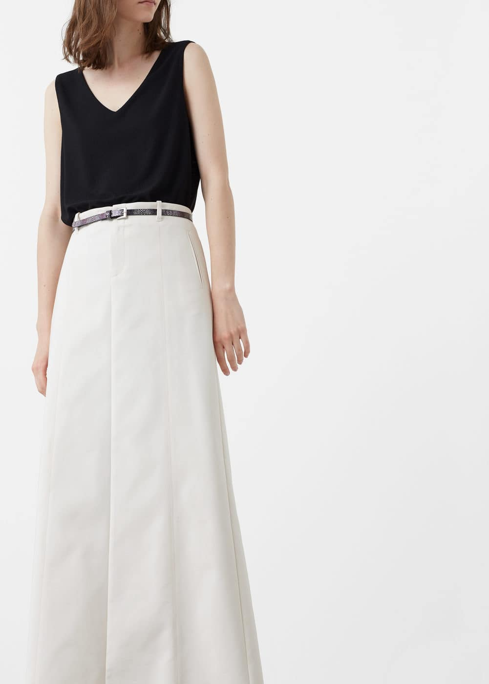 Snake belt skirt | MANGO
