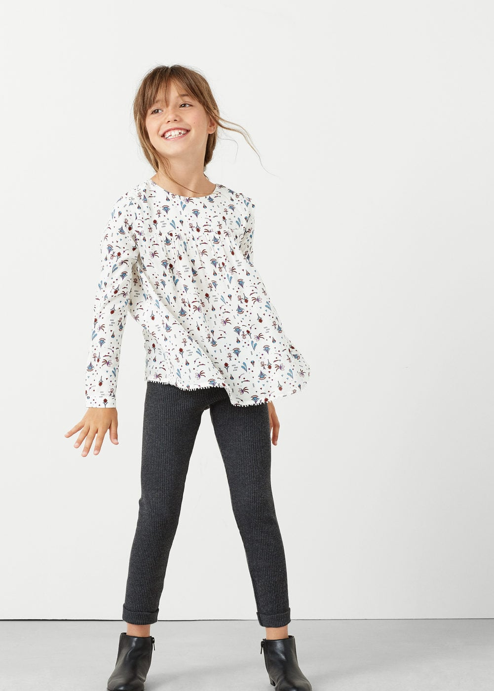 Ribbed trousers | MANGO KIDS