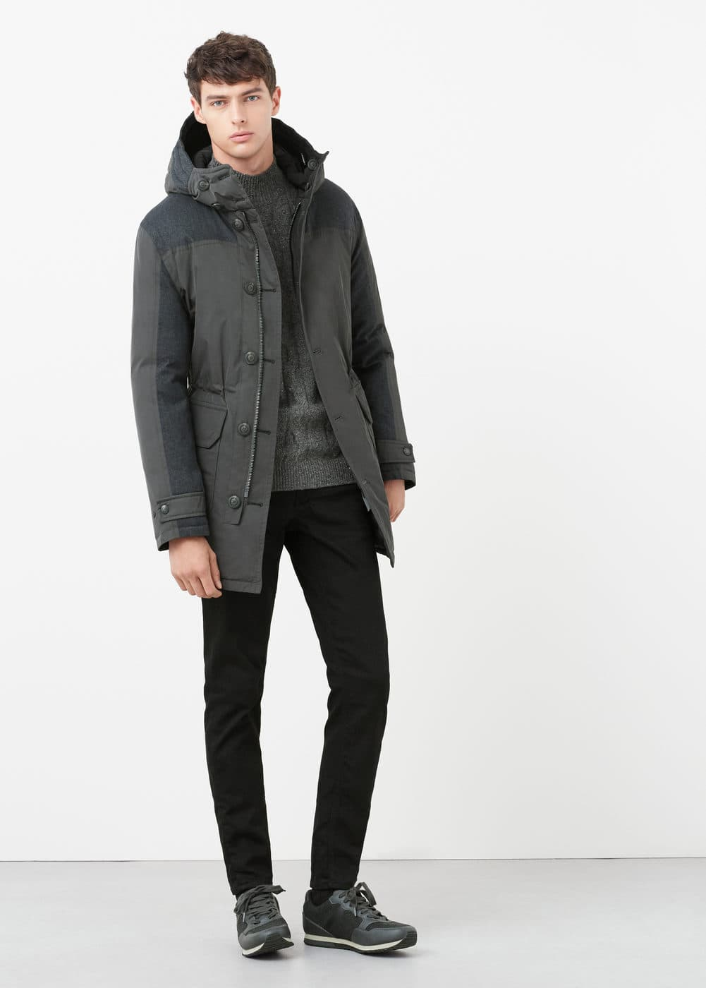 Reversible feather down jacket | MANGO MAN