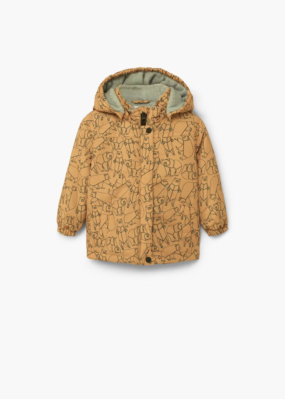 Printed quilted coat | MANGO KIDS