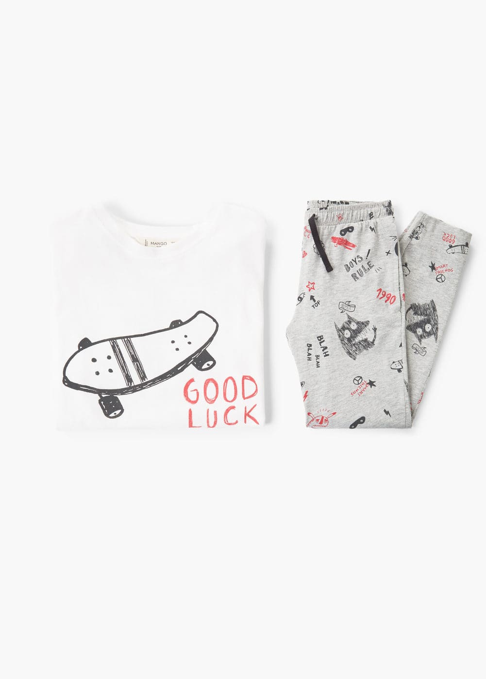 Printed long pyjamas | MANGO KIDS