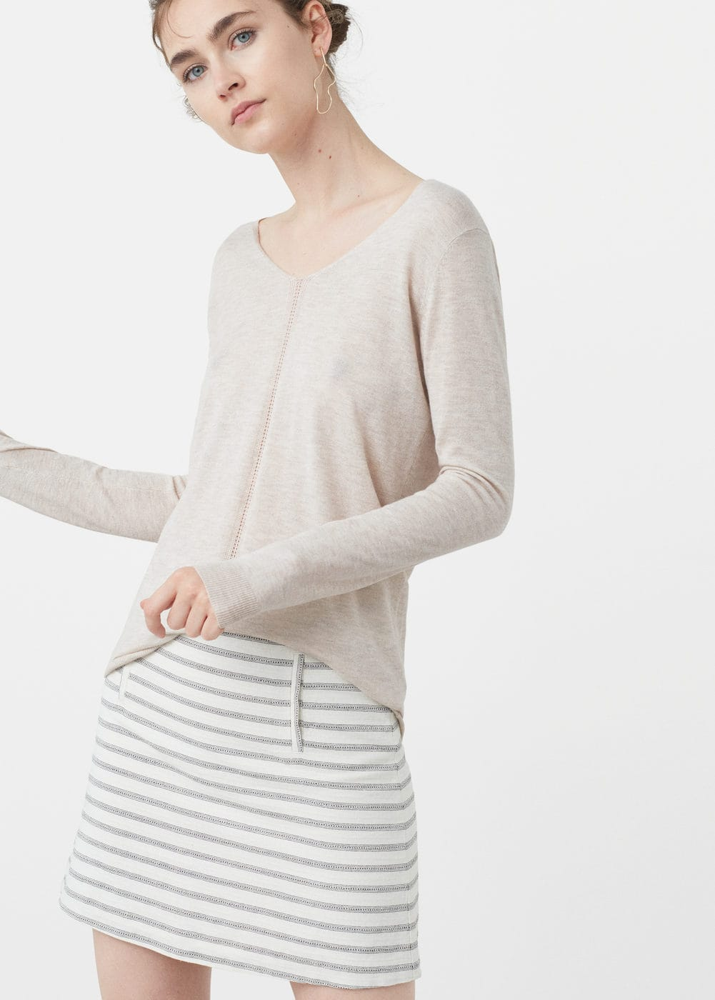 Openwork ribbed sweater | MANGO