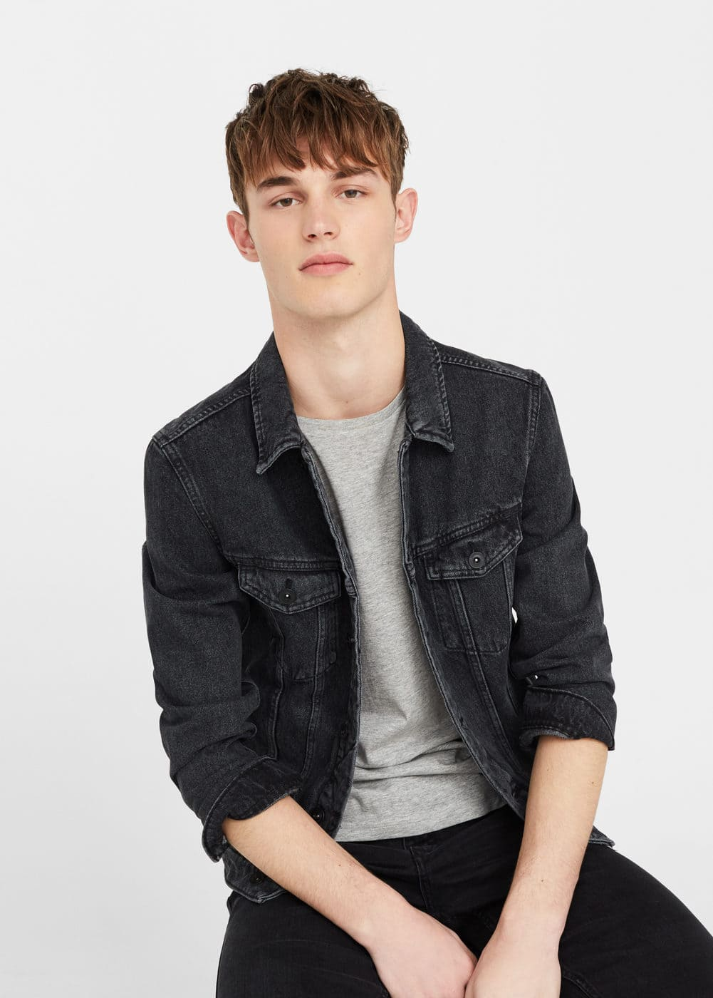 Black denim jacket | MANGO