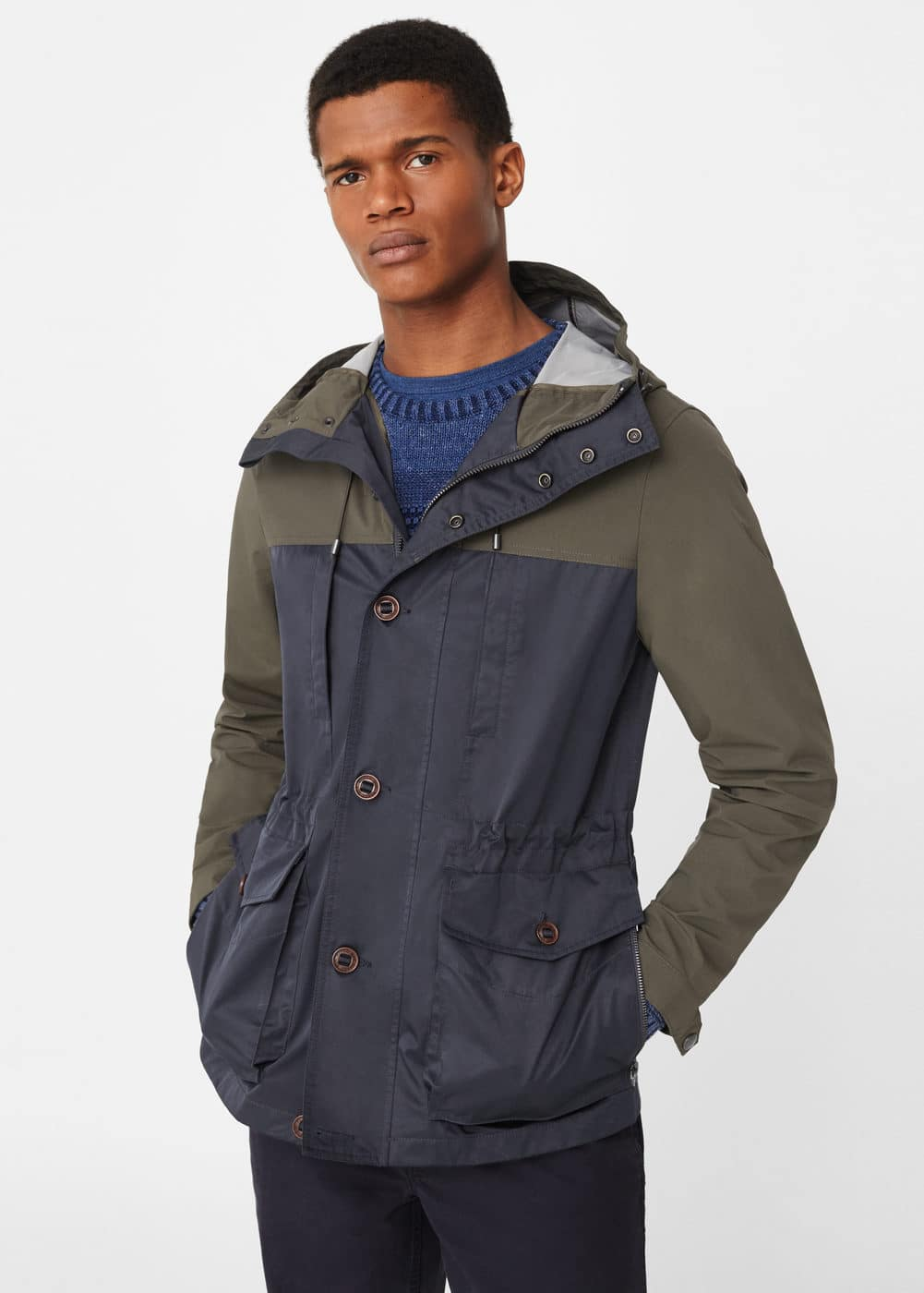 Mixed nylon parka | MANGO
