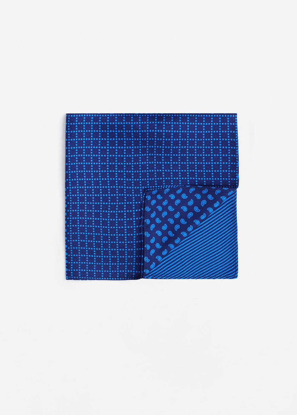 Printed silk pocket square | MANGO