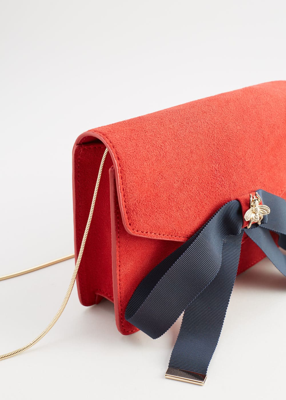 Bow leather bag | MANGO