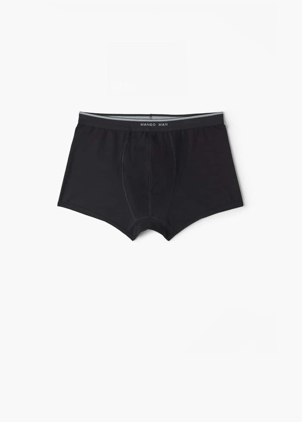 Logo cotton boxer briefs | MANGO