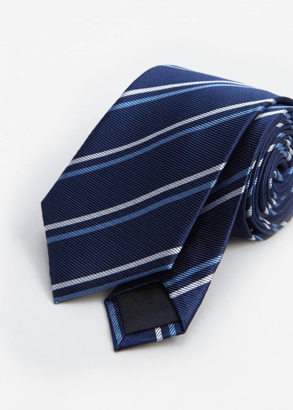 Striped silk tie | MANGO MAN