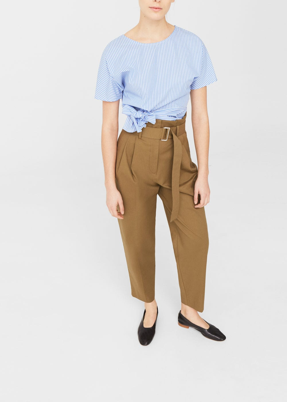 Bow cropped blouse | MANGO