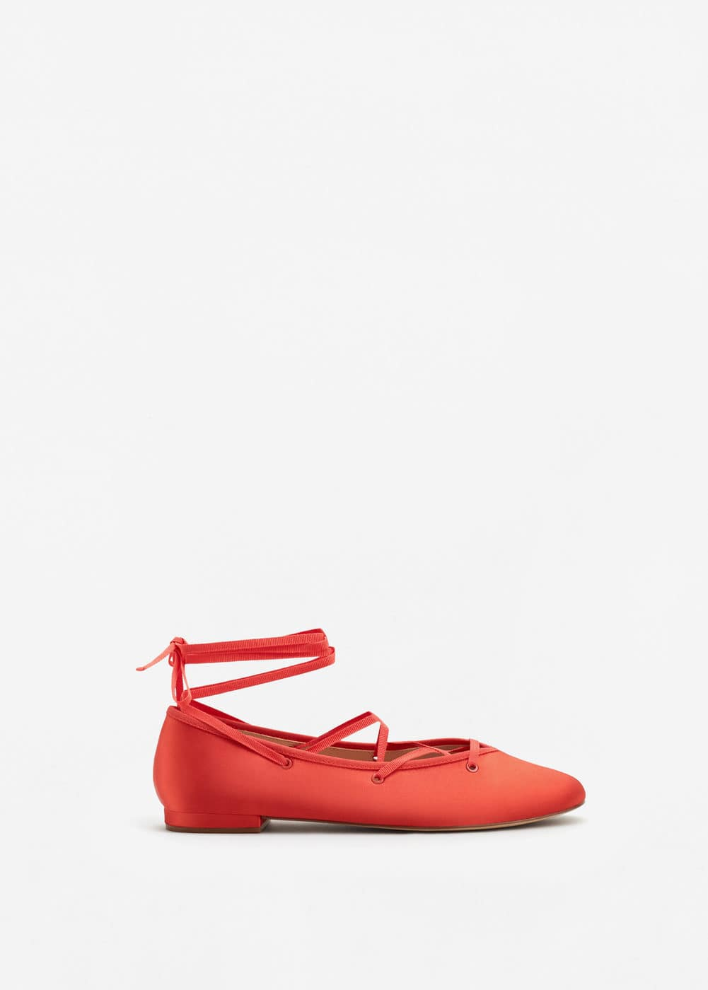 Lace-up ballerinas | MANGO