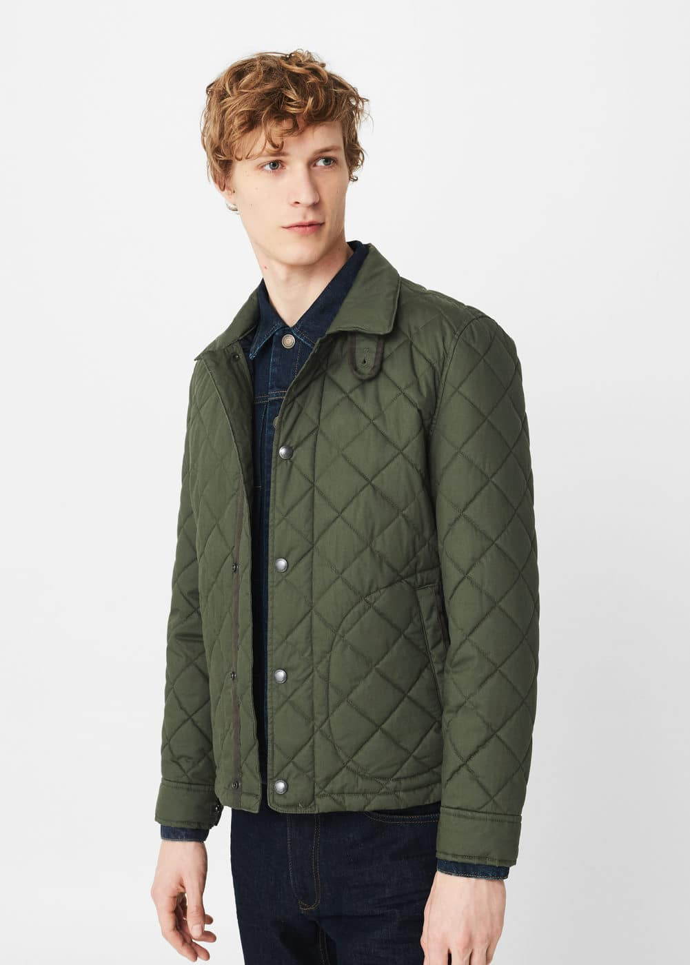 Pocket quilted jacket | MANGO MAN