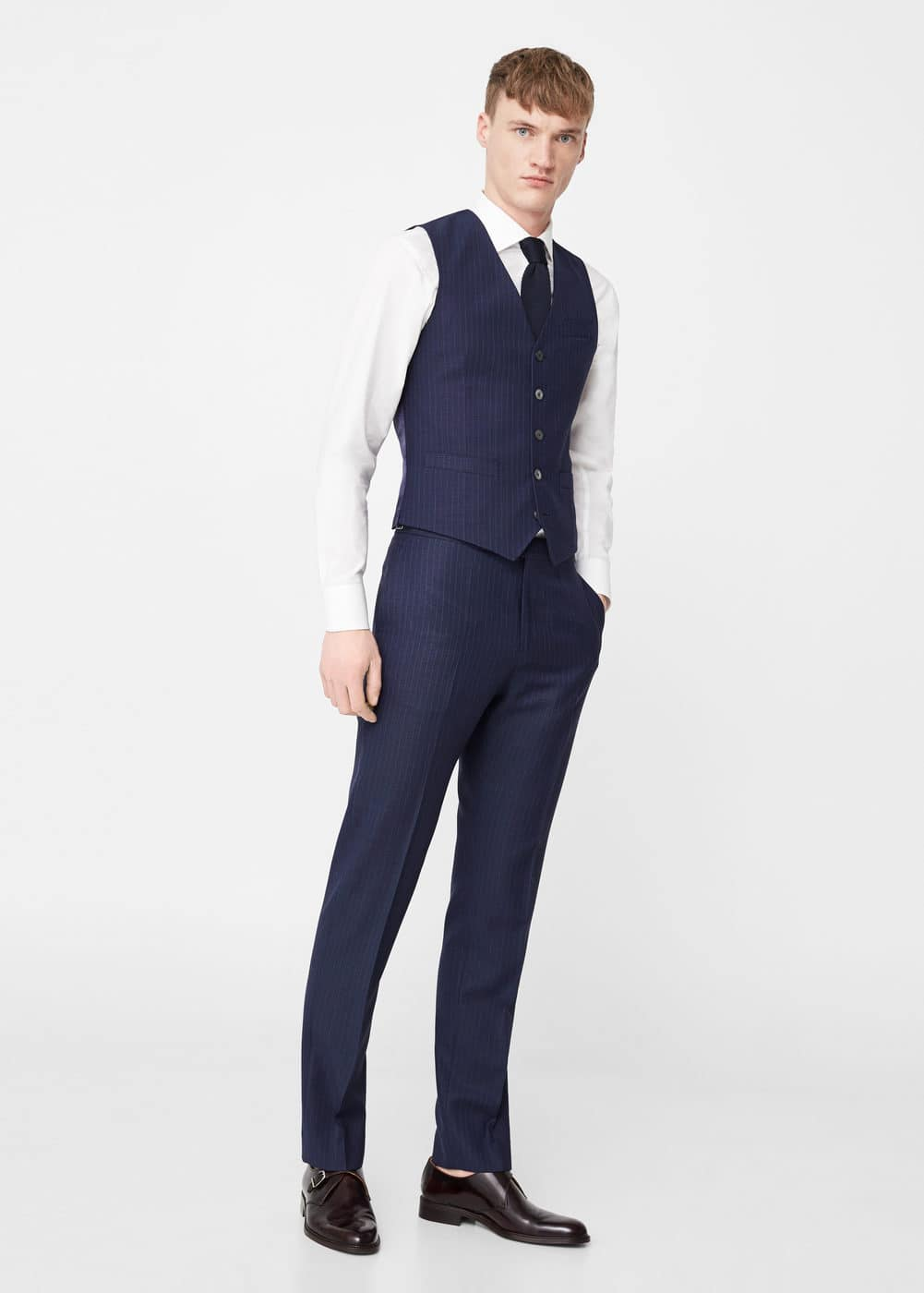 Slim-fit wool suit gilet | MANGO MAN