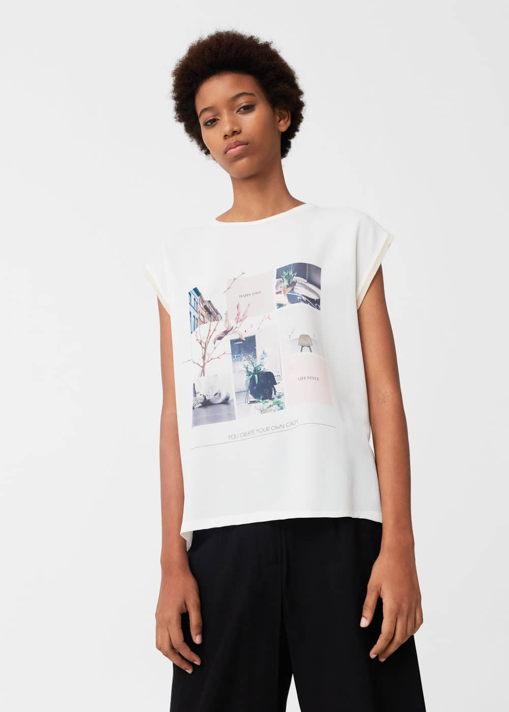 Photo print t-shirt | MANGO