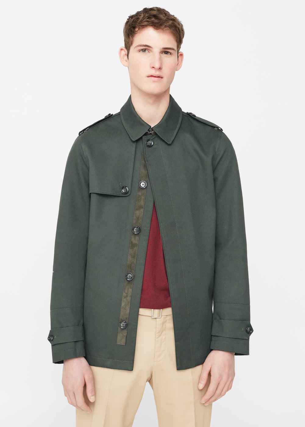 Buttoned cotton jacket | MANGO MAN