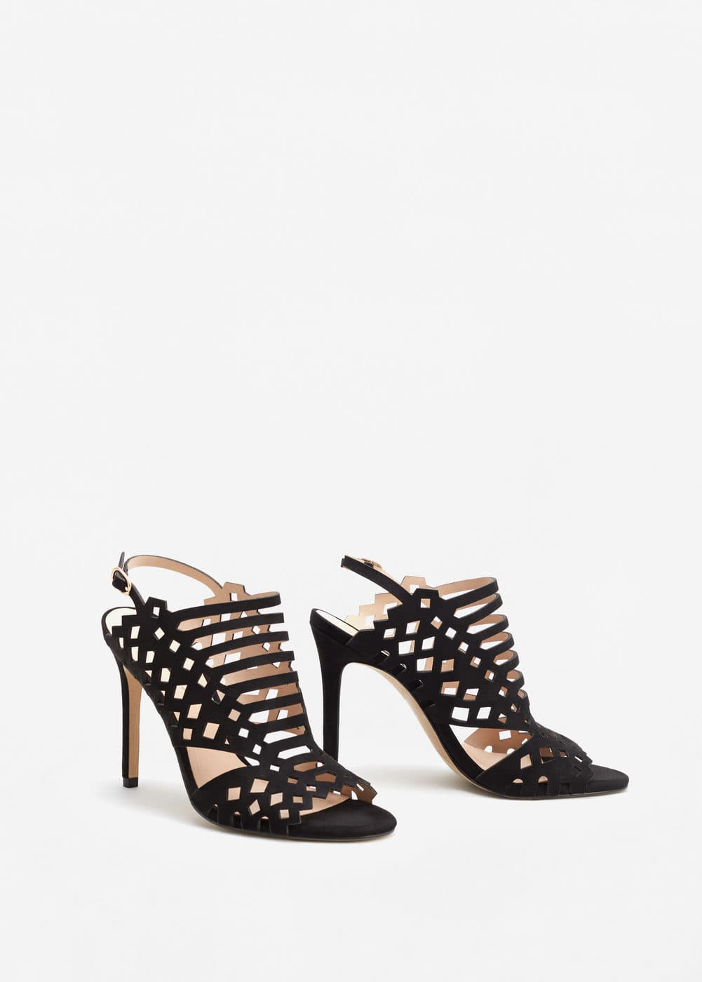 Laser-cut design sandals | MANGO