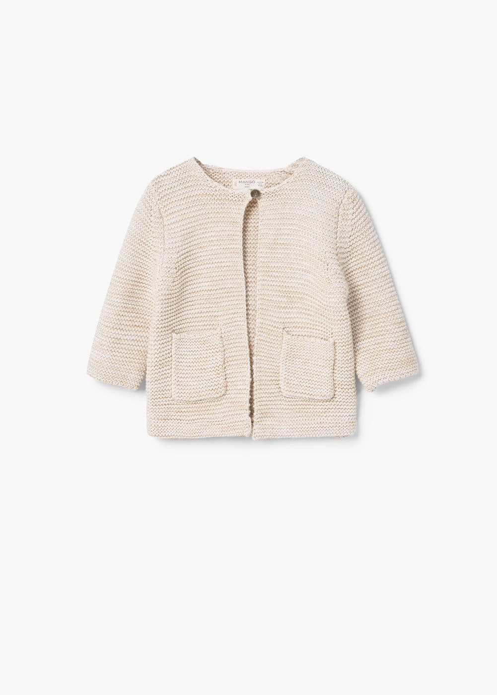 Metallic cotton-blend cardigan | MANGO