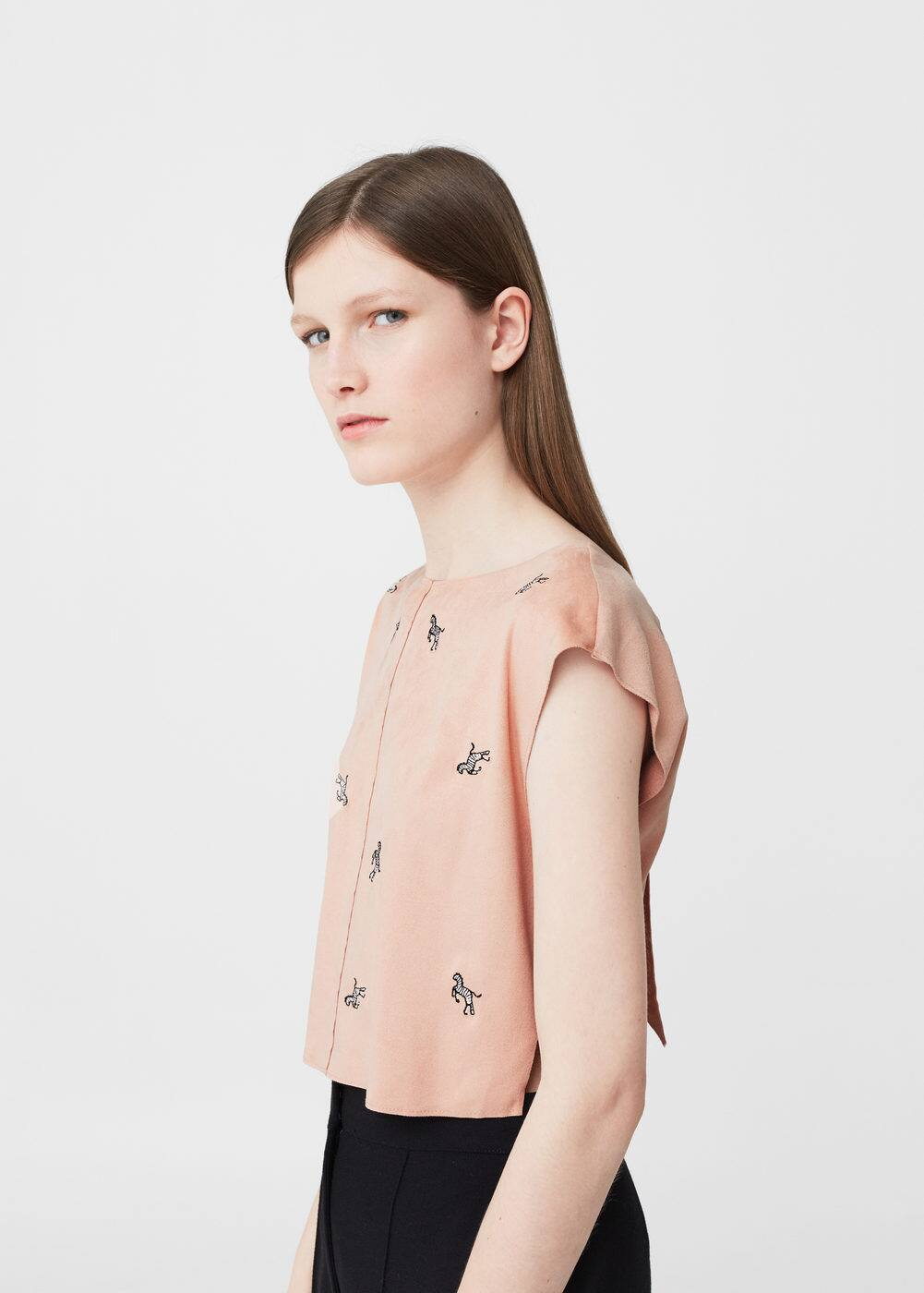 Embroidered details blouse | MANGO