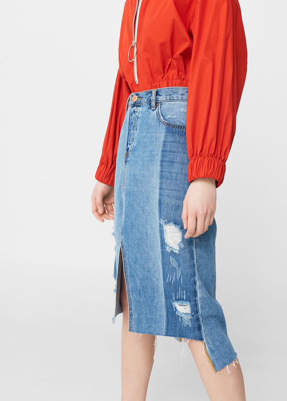 Medium denim skirt | MANGO