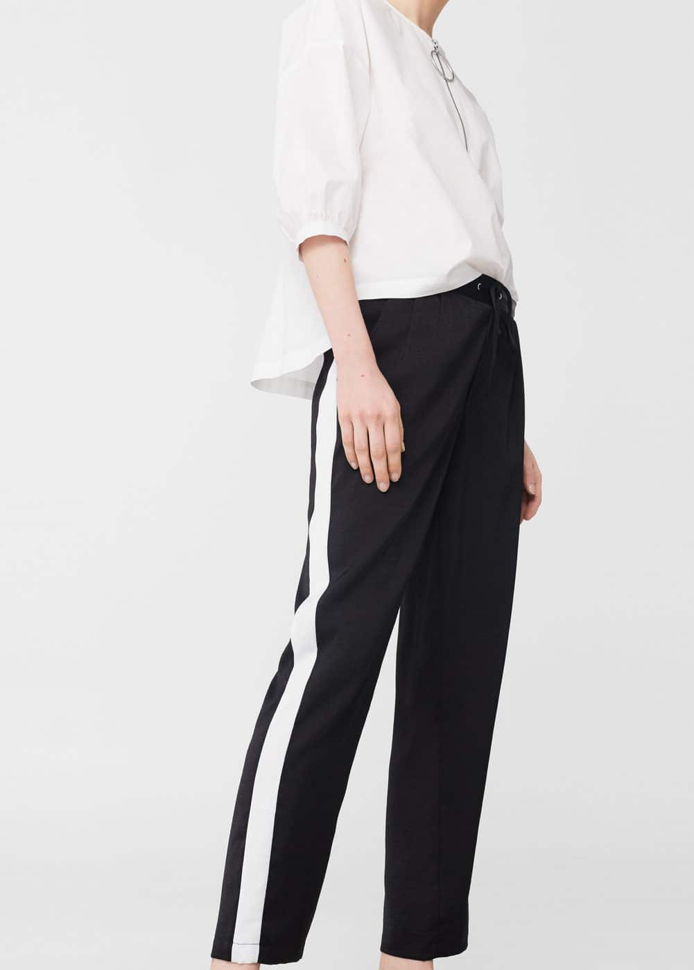 Trim flowy trousers | MANGO