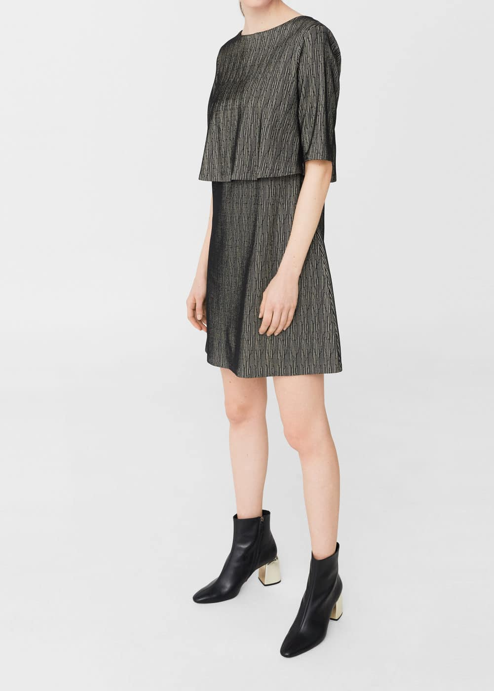 Metallic thread dress | MANGO