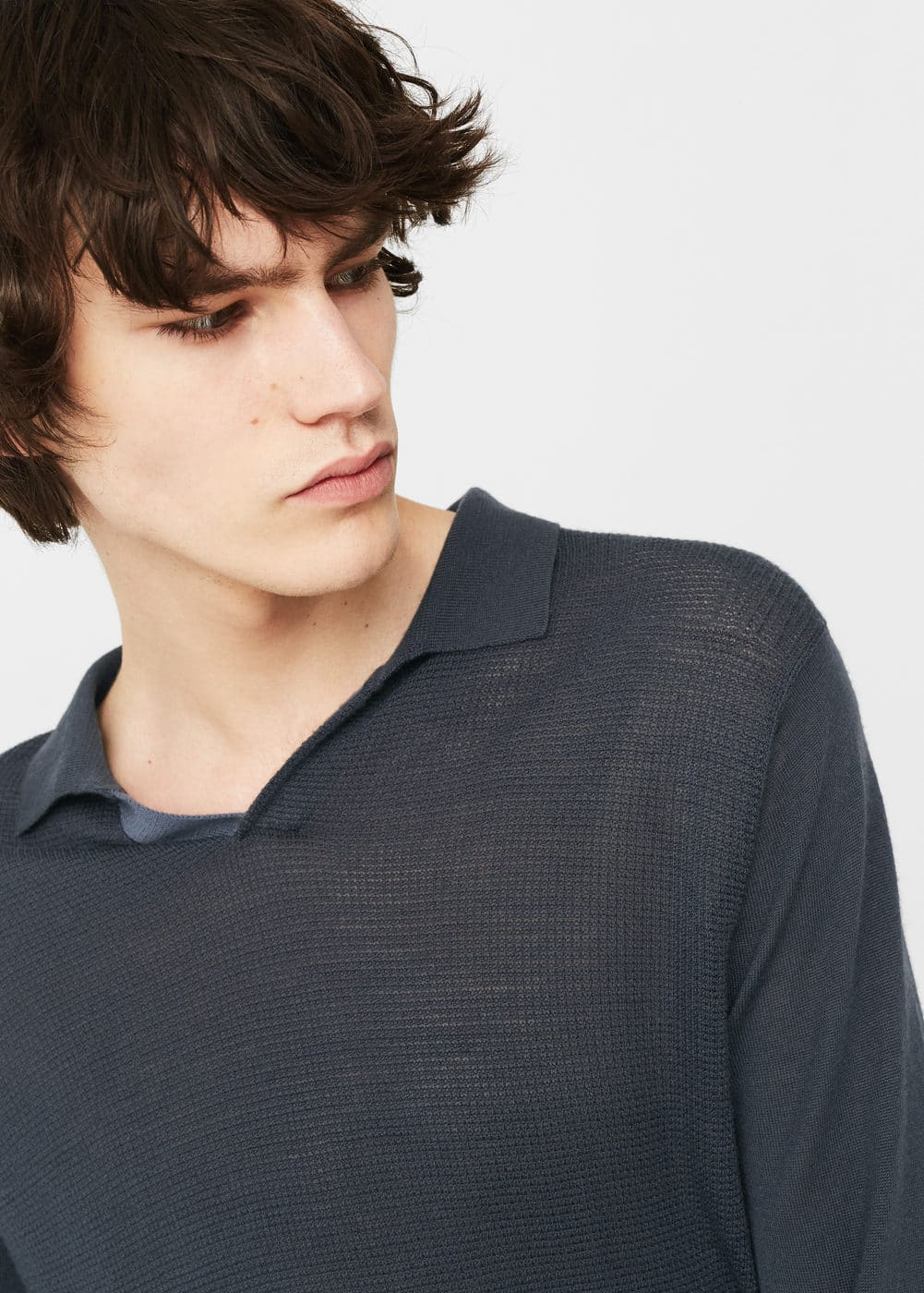 Long sleeves wool polo | MANGO