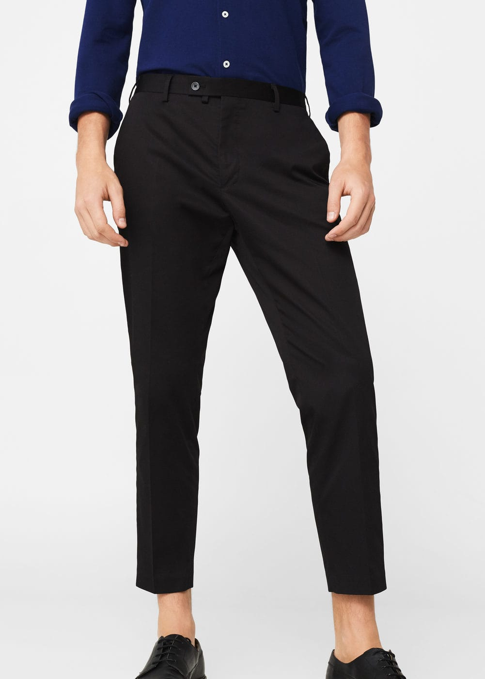 Slim-fit cotton suit trousers | MANGO MAN