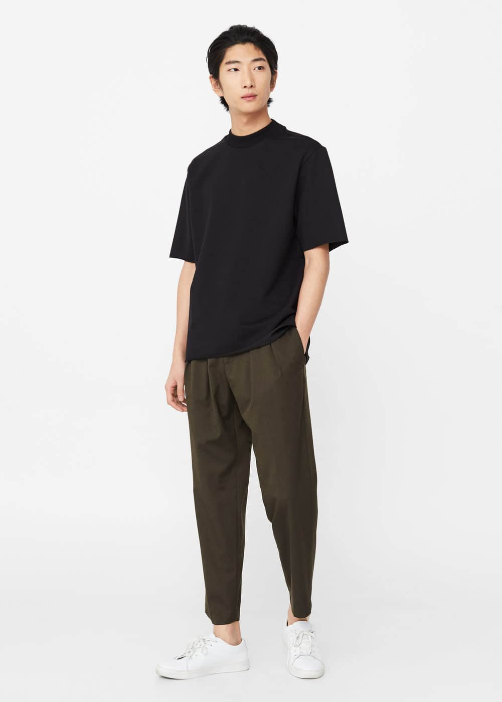 Neoprene-effect t-shirt | MANGO