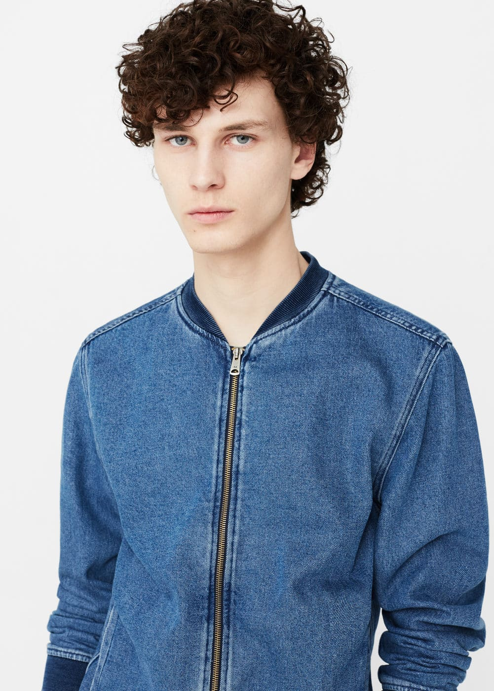 Denim bomber jacket | MANGO MAN