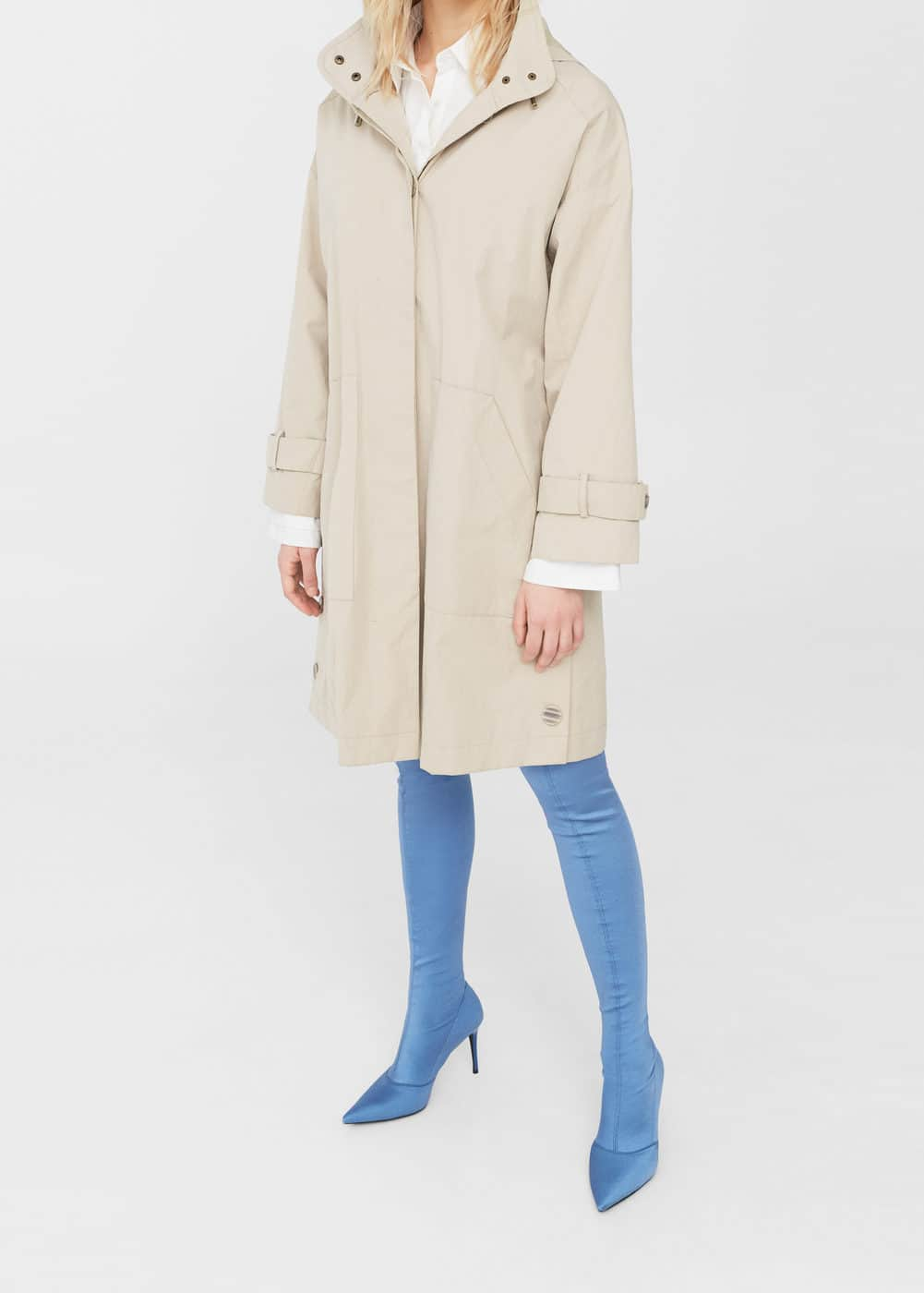 Side buttons parka | MANGO