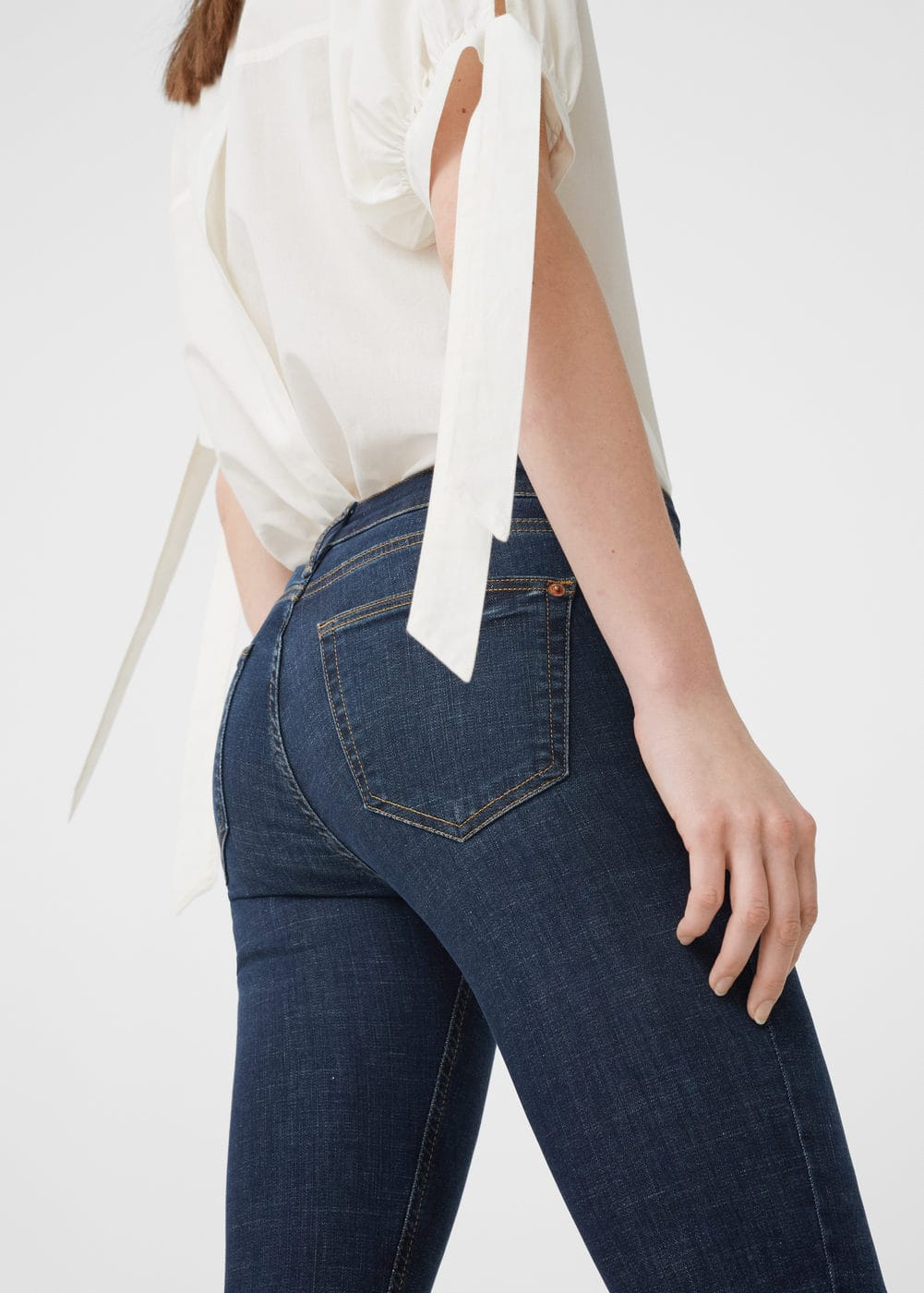 Cropped skinny jeans | MANGO