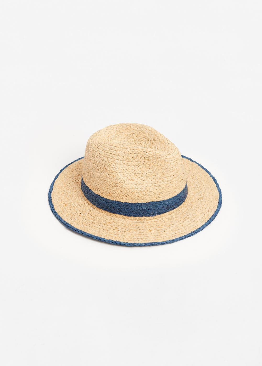 Bicolor straw hat | MANGO MAN