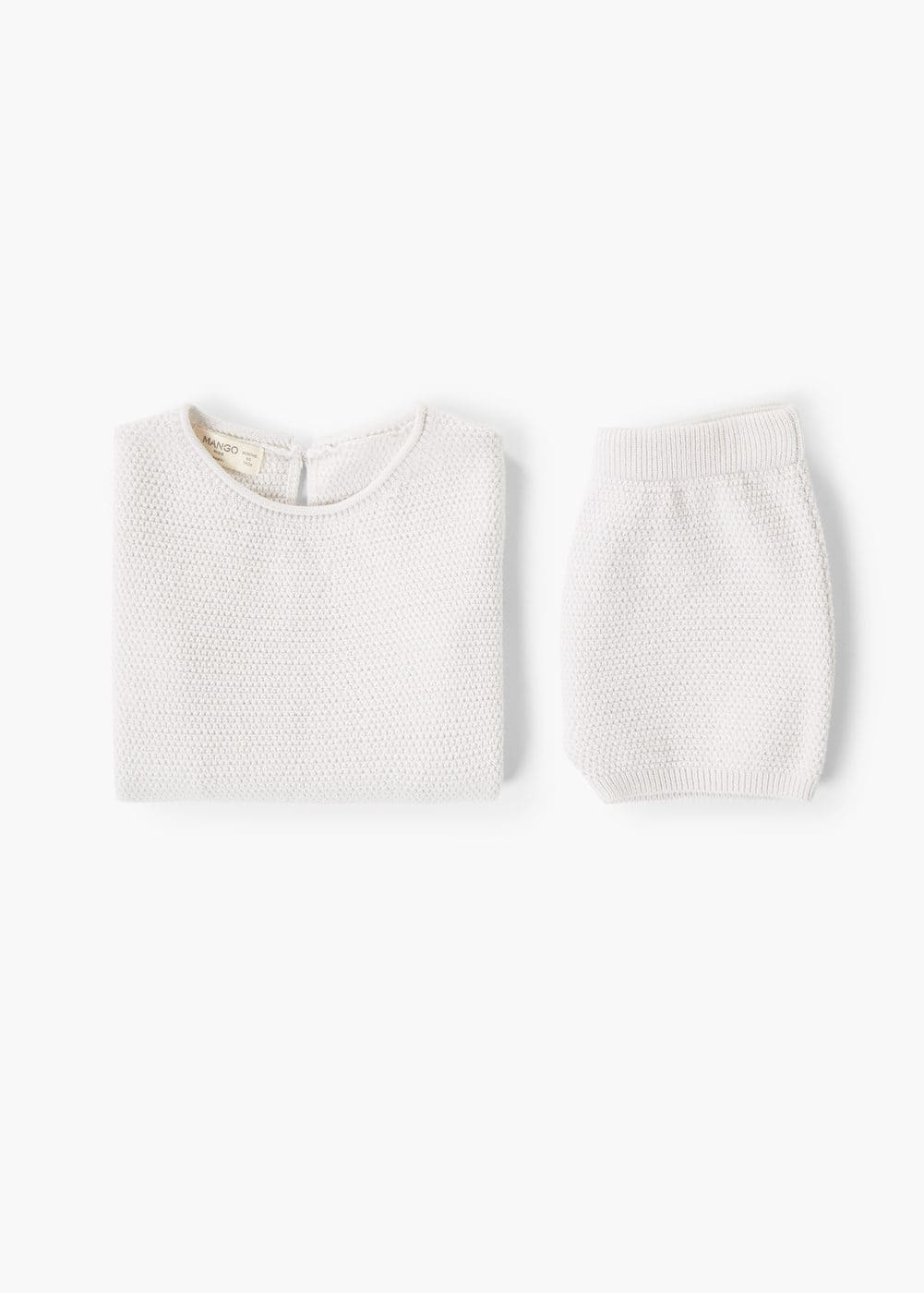 Buttoned cotton sweater | MANGO KIDS