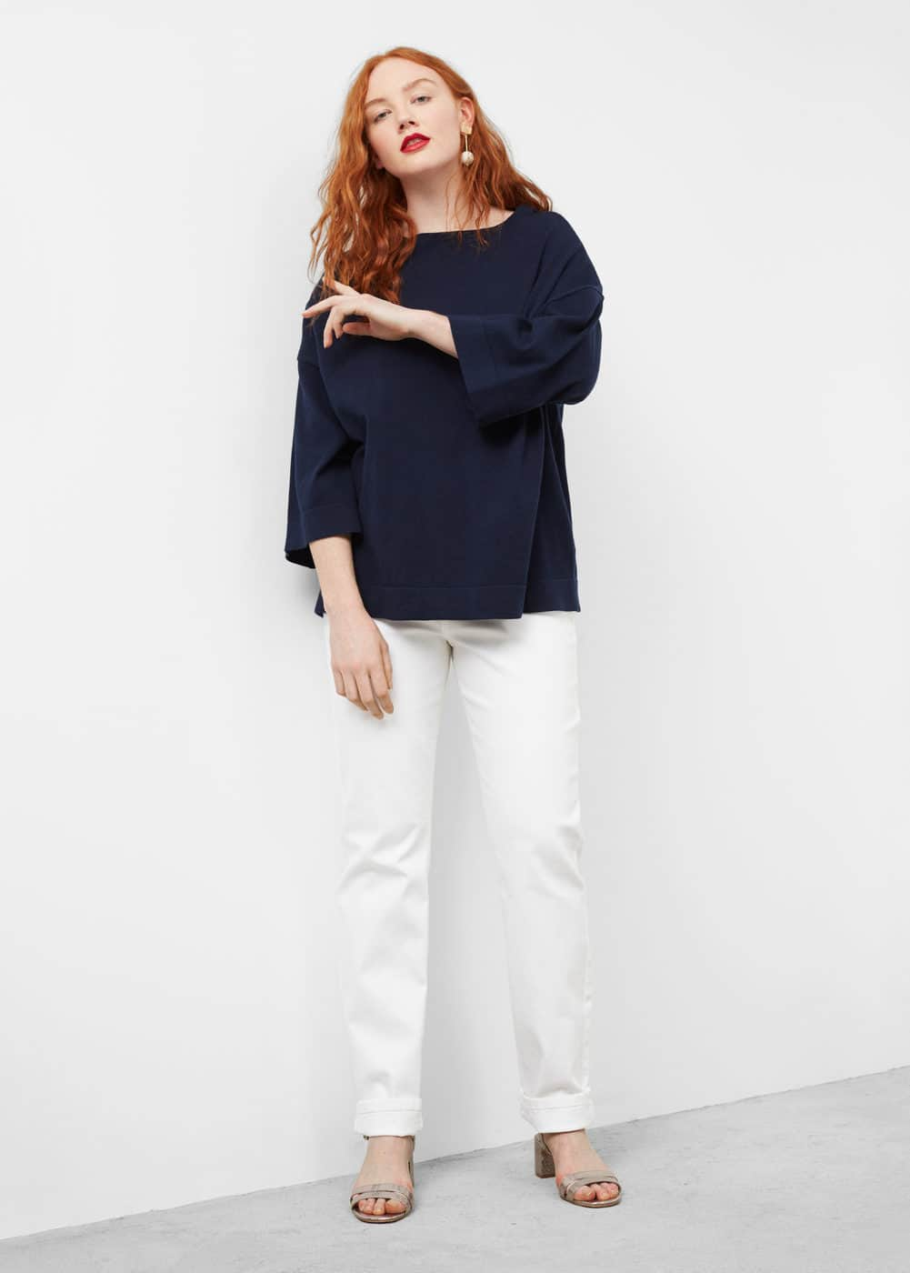 Fine-knit cotton sweater | VIOLETA BY MANGO