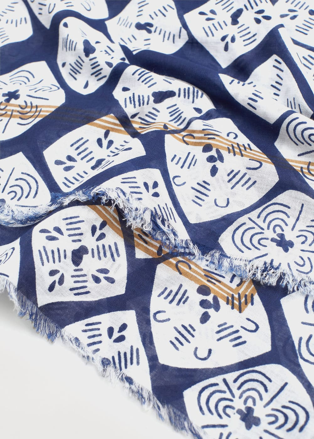 Printed cotton scarf | VIOLETA BY MNG