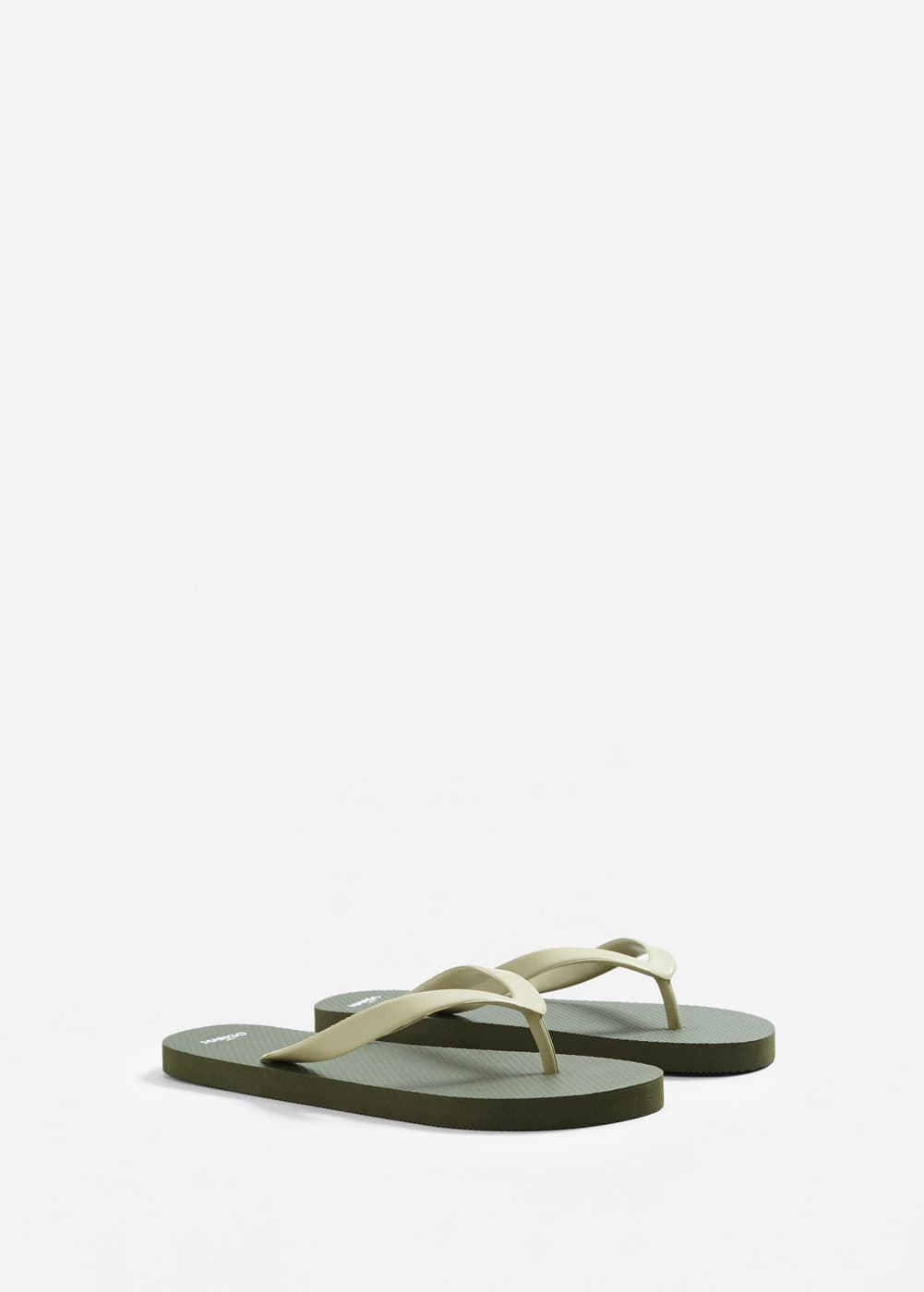 Two-tone flip-flops | MANGO MAN