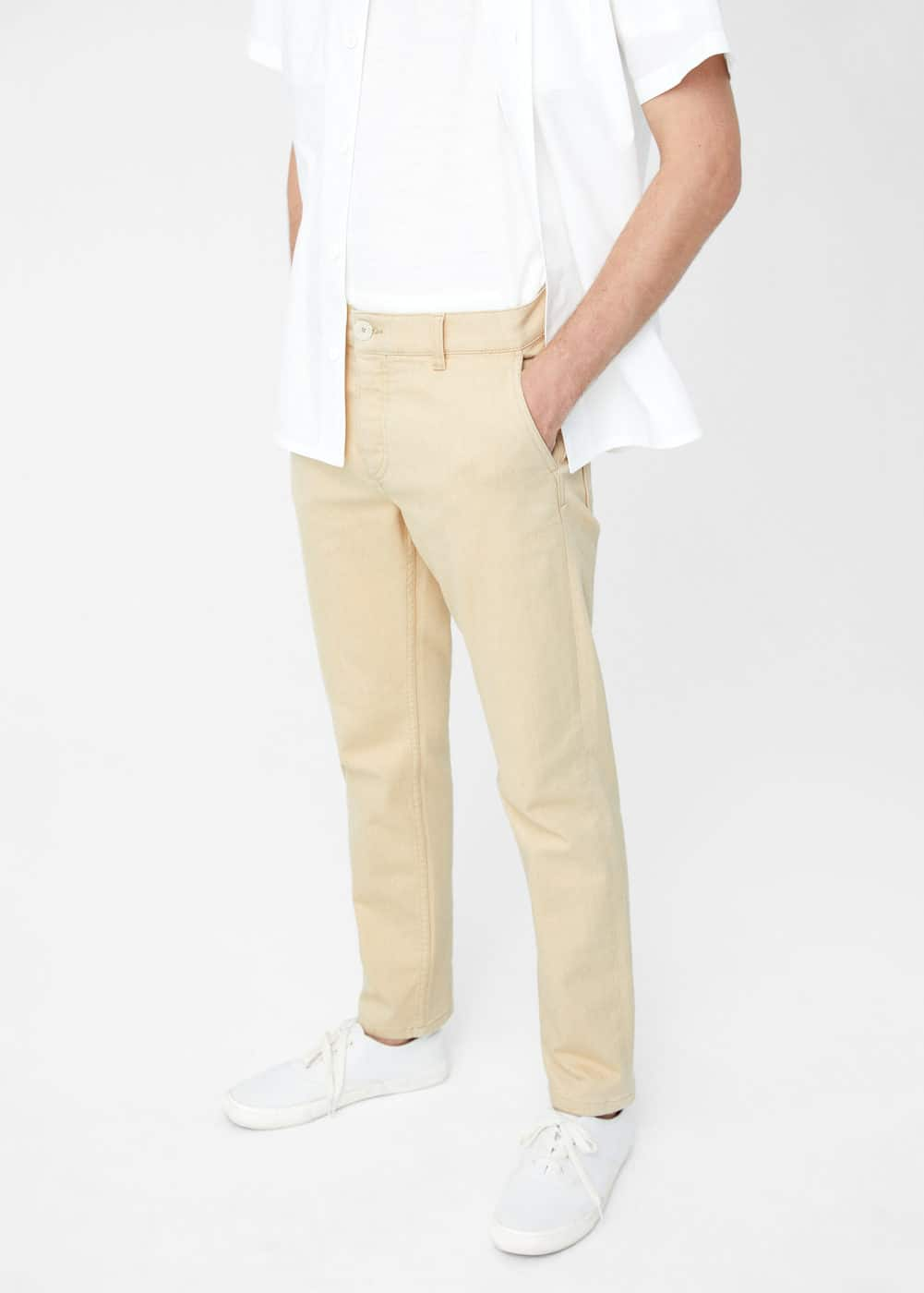Straight-fit organic cotton cobre jeans | MANGO