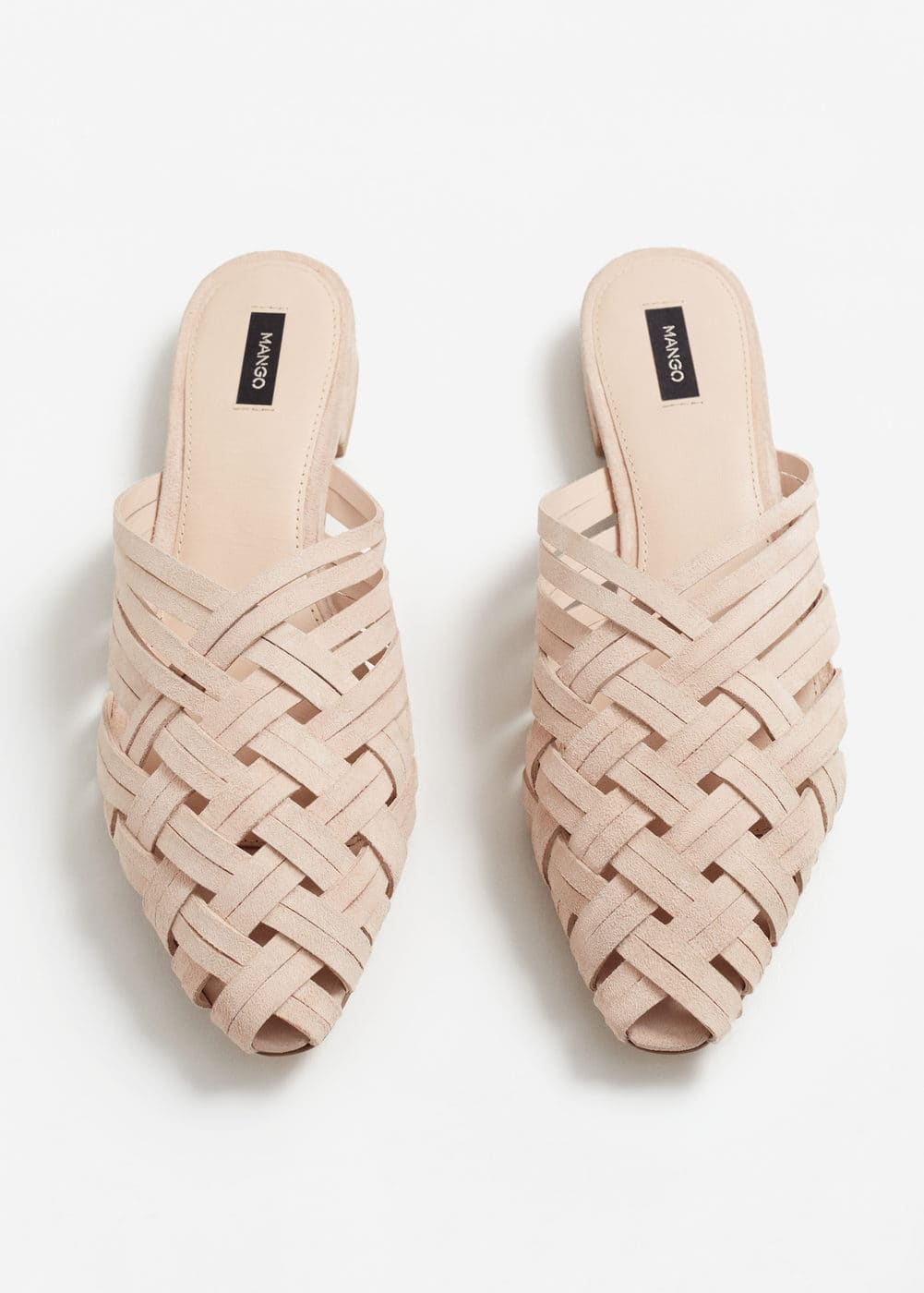Braided leather shoes | MANGO
