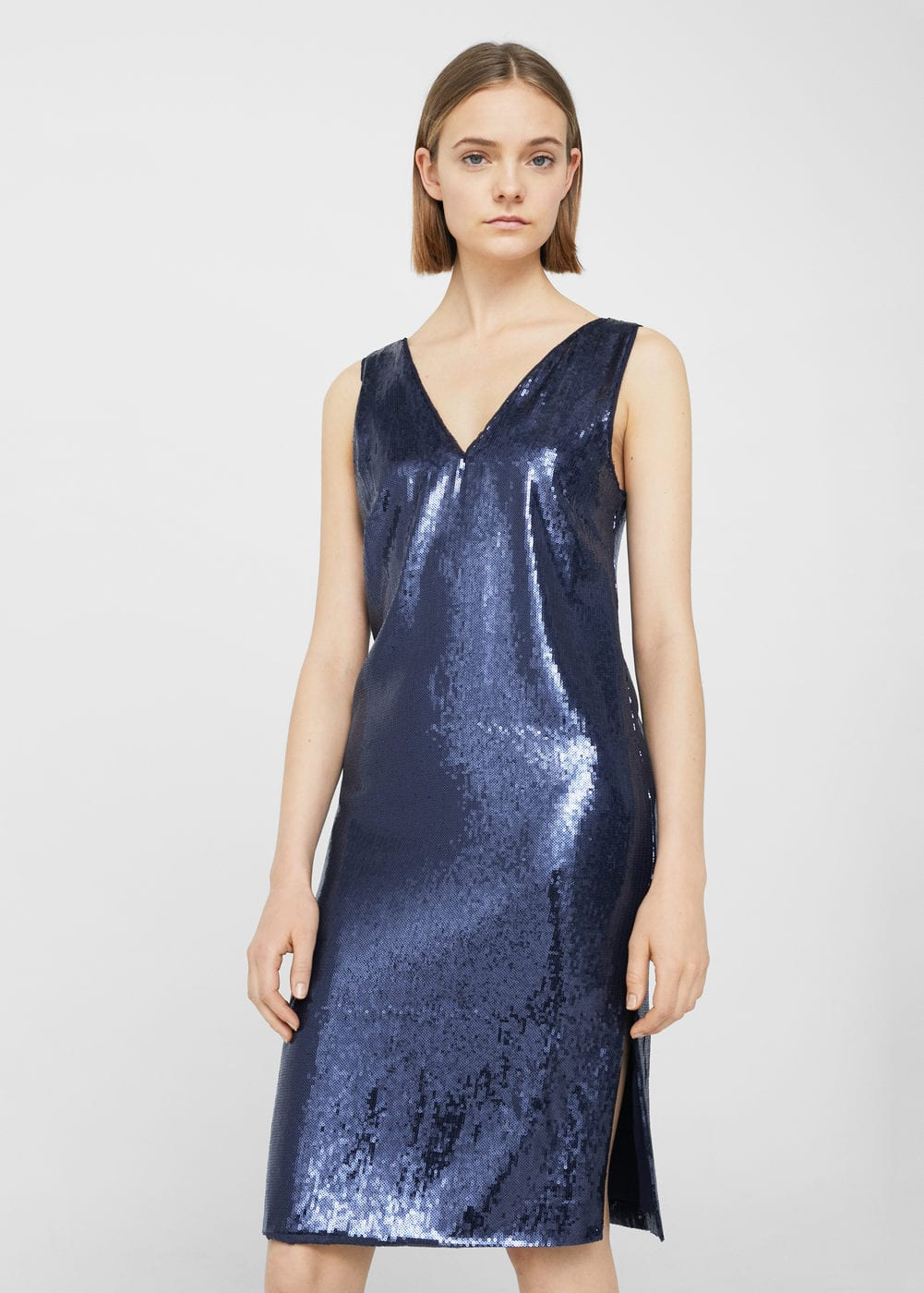 Sequined dress | MANGO