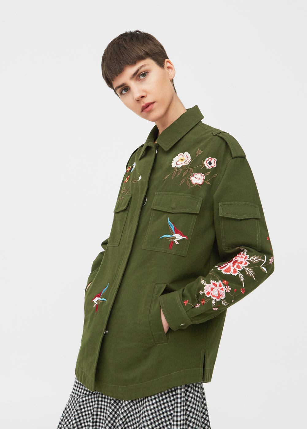 Floral embroidered jacket | MNG