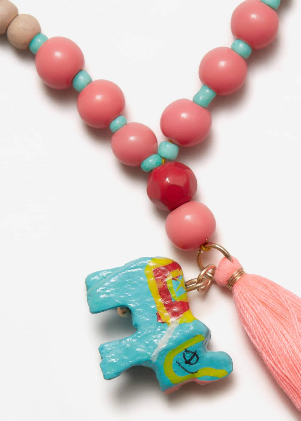 Beads pendant necklace | MANGO KIDS