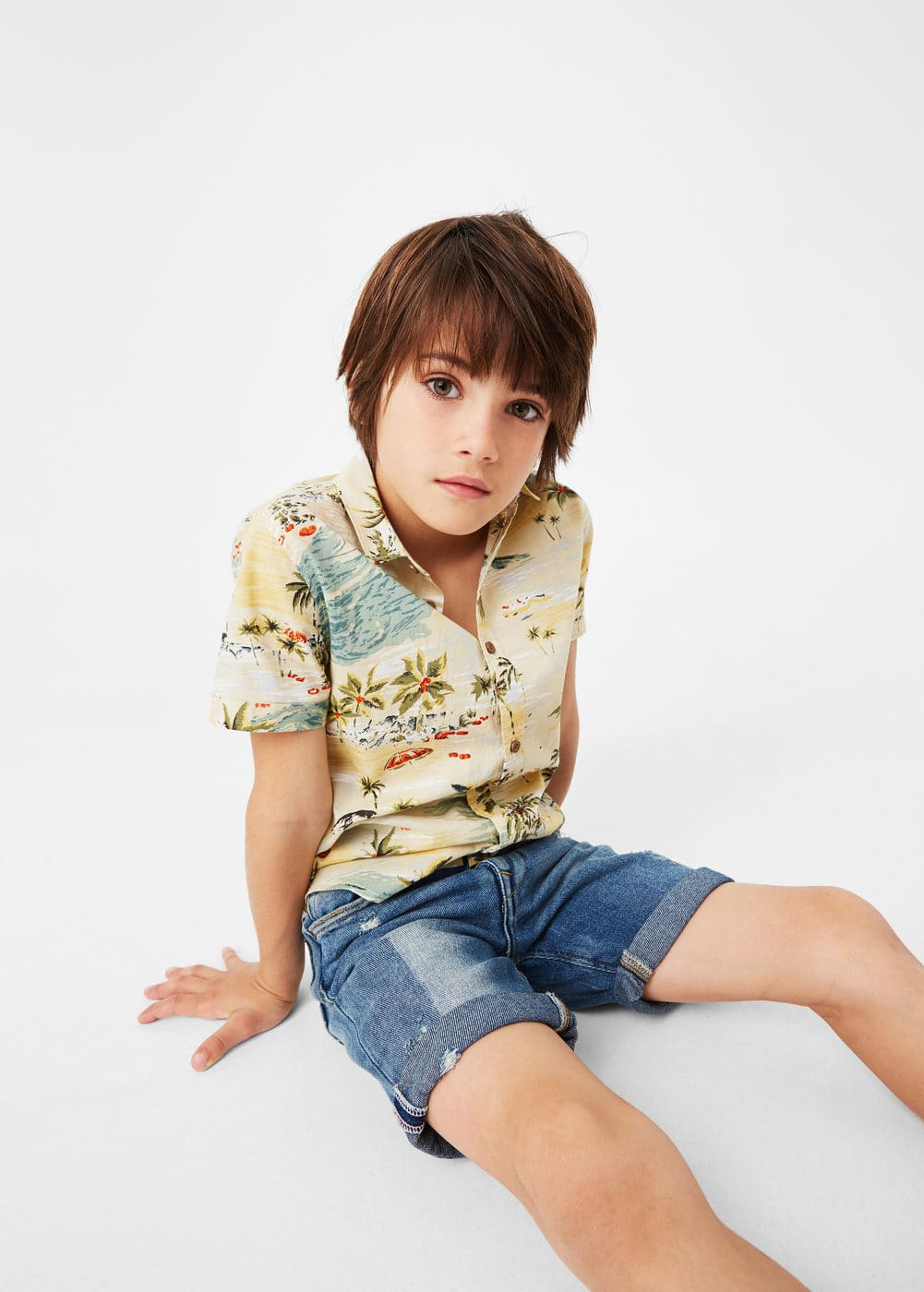 Tropical print shirt | MANGO KIDS