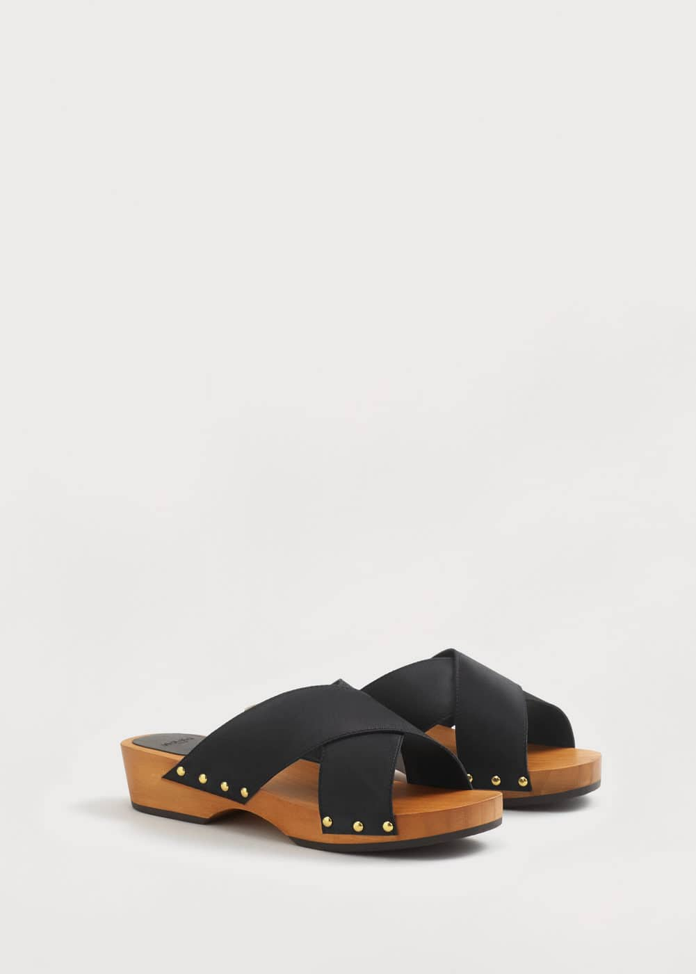 Wooden strapped sandals | VIOLETA BY MANGO
