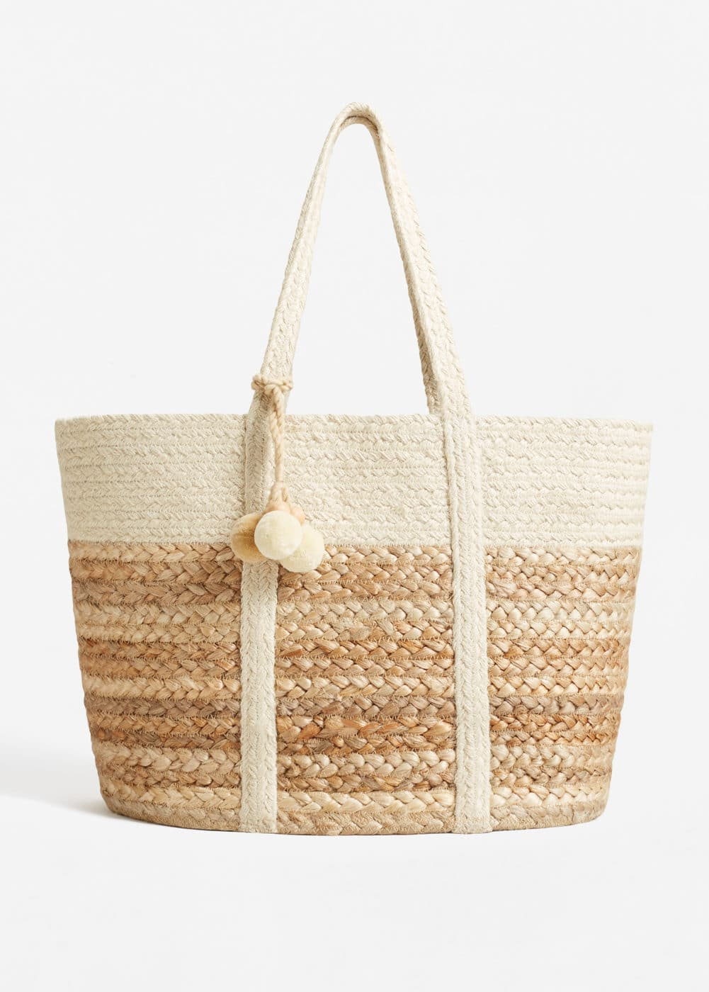 Jute basket bag | MANGO