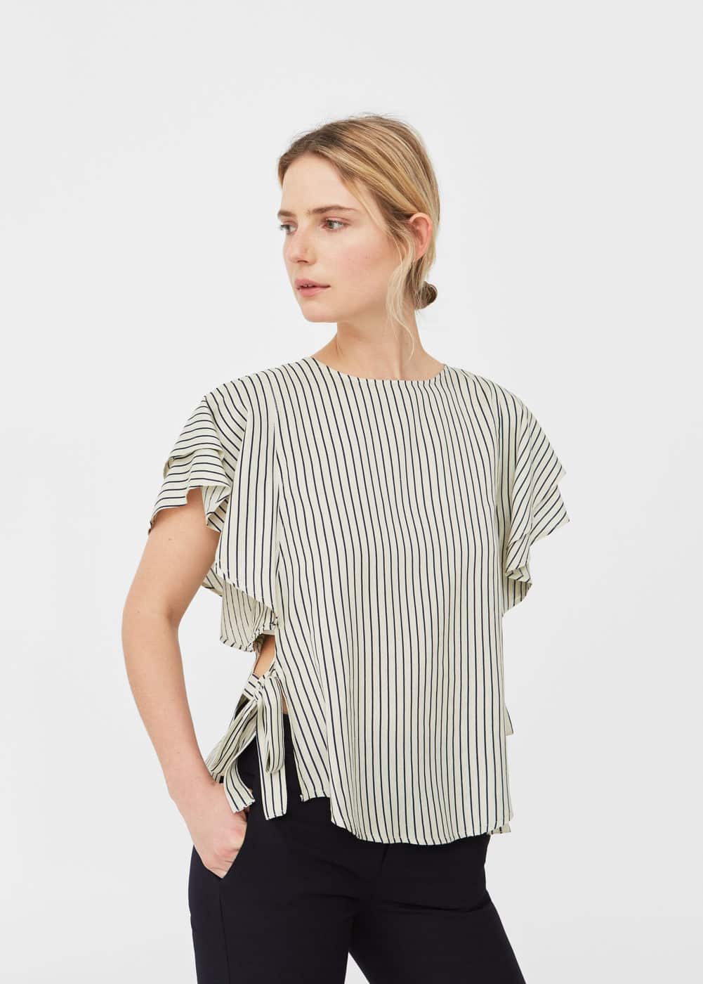 Ruffled sleeve blouse | MNG