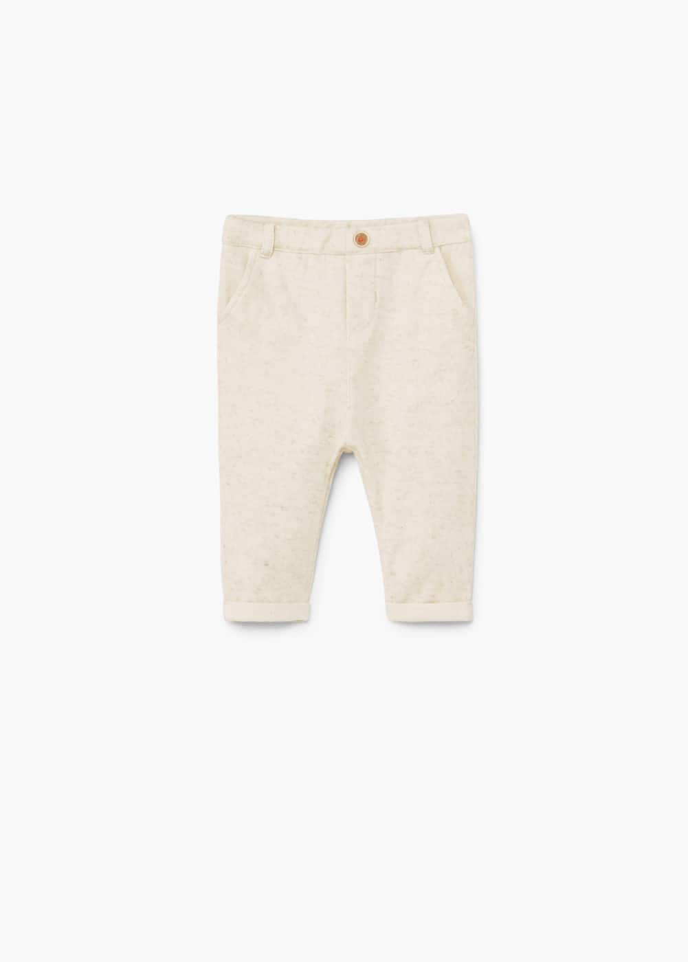 Linen-blend jogging trousers | MANGO