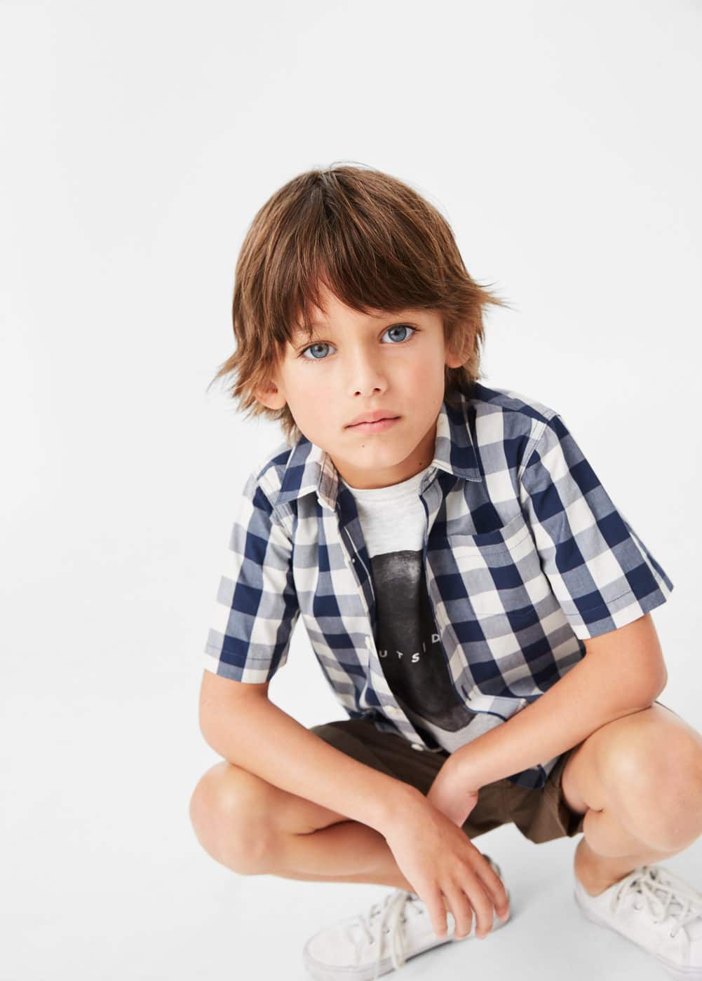 Check cotton shirt | MANGO KIDS