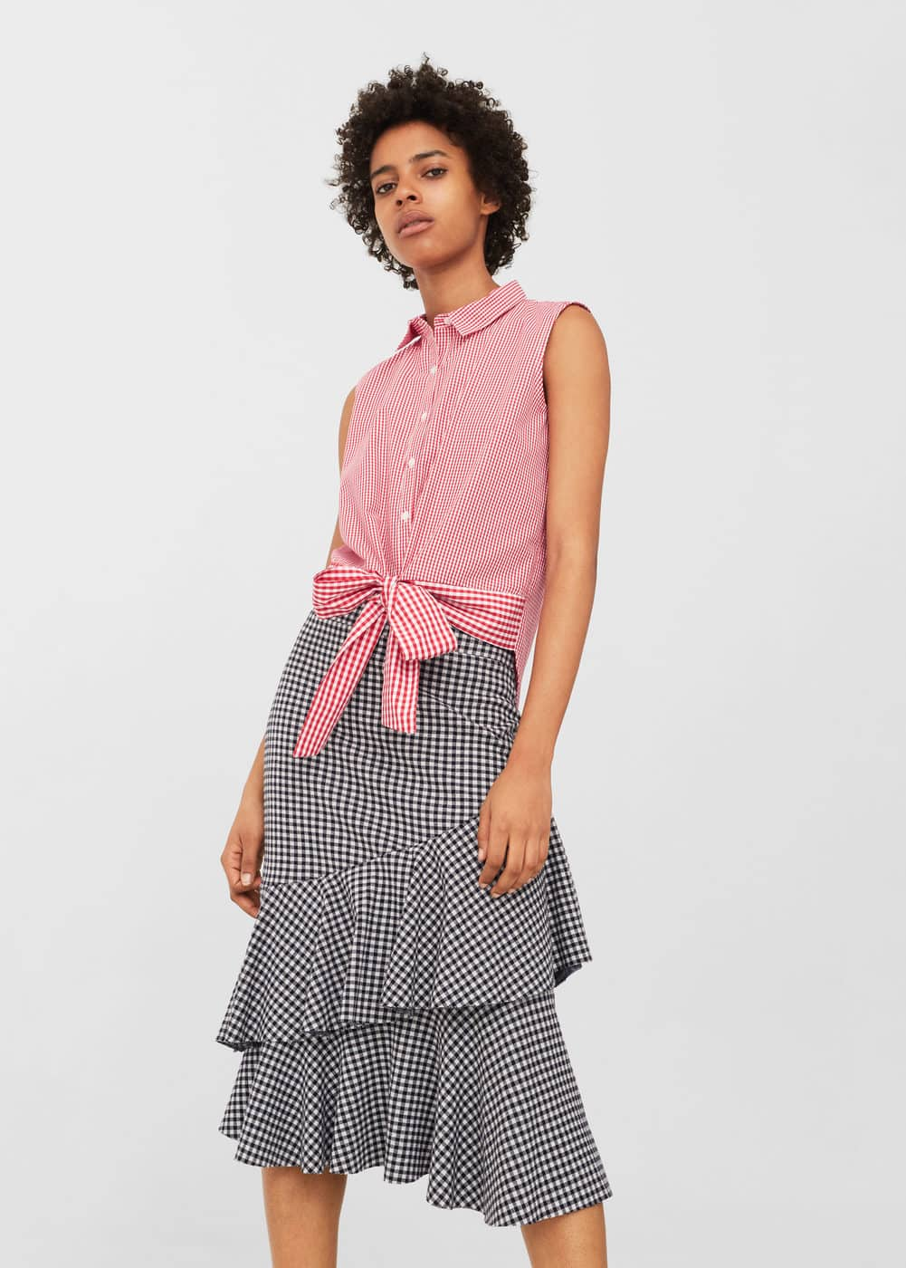 Bow check shirt | MANGO