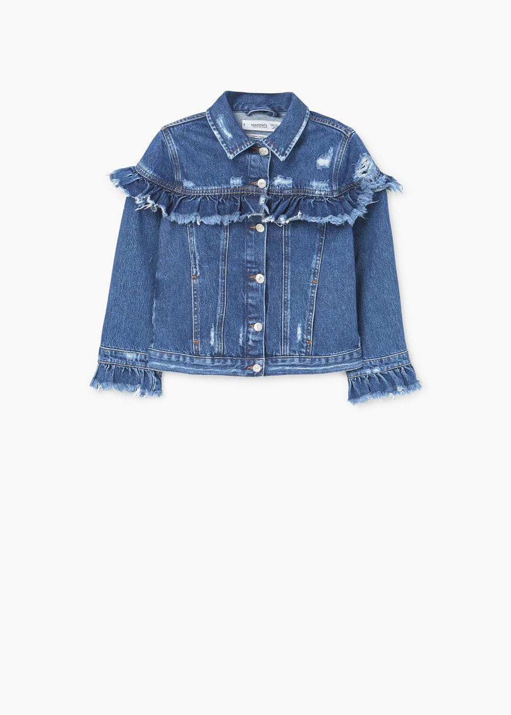 Organic cotton denim jacket | MANGO