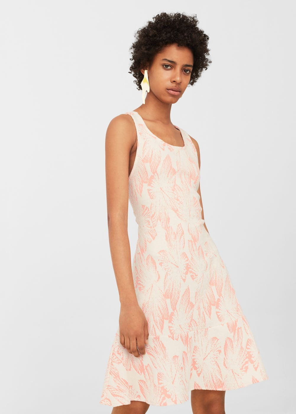 Textured jacquard dress | MANGO